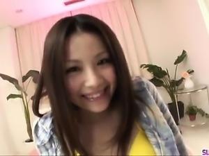 Rika Koizumi sucks the dick before placing it in her vag