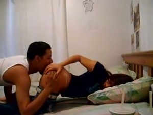 Stepbrother's friend fucks me hard in a doggy position