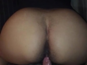 Spraying cum on my wife's back