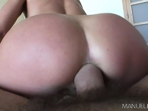 Luscious babe with perky titties satisfies her lust for rough anal sex