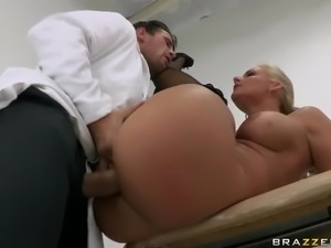 Doctor Examines Blonde Babe and her Big Ass with his Big Cock