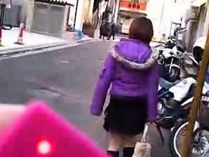 Enticing Japanese maid with pigtails surrenders her body to