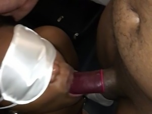 Slut Giving Head to Me and 2 Strangers