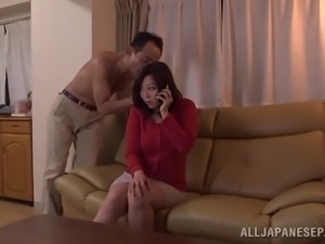 Getting his way with a sweet unsuspecting Japanese MILF 2