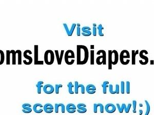 Suzane fucking her diaper wearing boyfriend with a strapon