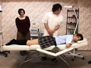 Beautiful schoolgirl gets massaged and delivers a wonderful