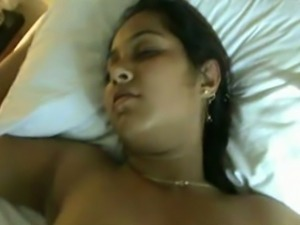 Indian college girl tired after party fucked on cam