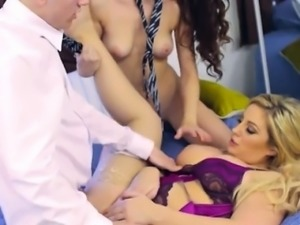 Mom And Teen Take Turns Getting Fucked By Young Stud