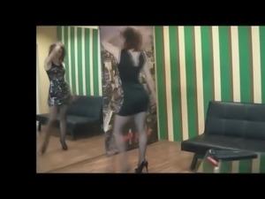 Housewife in mini dress and high heels 2