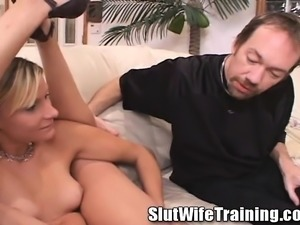 Gorgeous blonde wife with a perfect ass Anastasia needs to get fucked