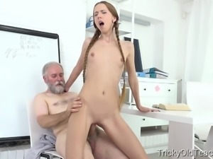 Tricky Old Teacher - Student Paris Devine