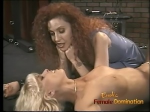 Saucy redhead bint enjoys pinching a hot blondes nipples