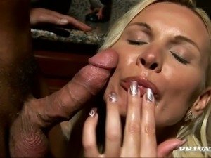 Amazing Blowjob with Cum Swallowing by Blonde MILF Winnie