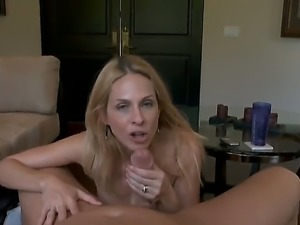 Blonde milf Angela Attison is Christians neighbor. She called him to help her...
