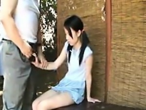 Slutty teen with pigtails shows off her cocksucking abiliti