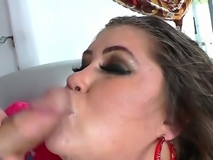 Baldheaded dude with huge dong Christian XXX is relaxing with nasty BBW bitch...