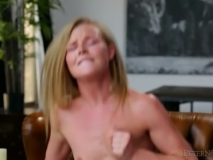 Leggy petite blondie Nicole Clitman rides hard dick of her stud with great...