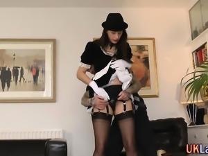 Older british maid nailed