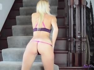 Ms. Basil Meadows Blonde Bombshell Striptease