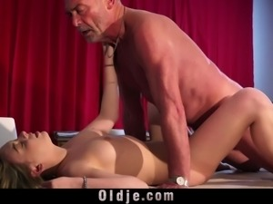 Teen big boobs needs old fucking for wet high fever pussy