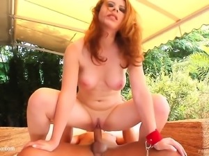 Kity White in hard gonzo style scene from Tamed Teens