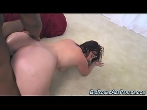 Huge ass slut rides bbc