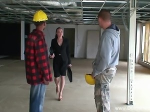 3some On The Dutch Construction Site