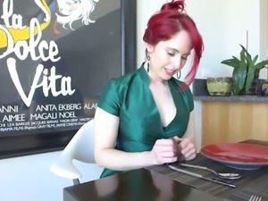 Stunning red haired MILFie beauty of my buddy loves to act like a hoe
