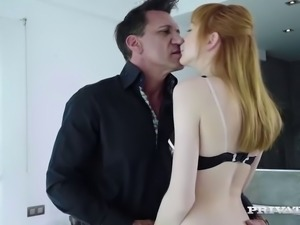 Redhead slut cheats on her boyfriend