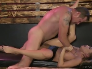 Brittany Amber hammered deep in her wet punani in hell arousing Fame Digital...