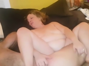 Overweight coming in her husband's Dick