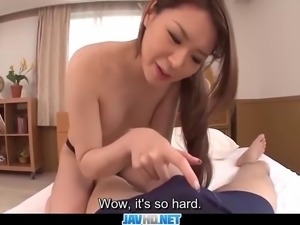 Subtitles - Japanese model Chine Mimura fucked by man