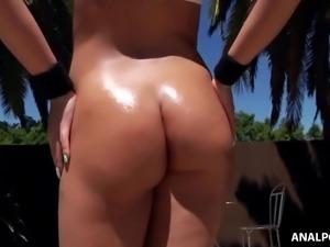 Kenzie Greene's round butt pounded hard