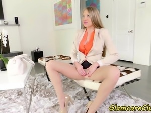Glam pornstar banged and jizzed on
