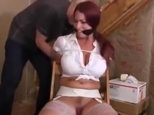 Woman in attic