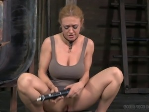 Tied up Dee's mouth ravished by a massive black dong