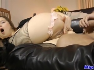 Slutty eurobabe assfucked by geriatric