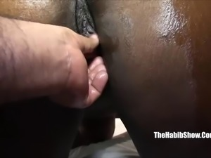 thick black chocoalte fucked by hairy paki p2