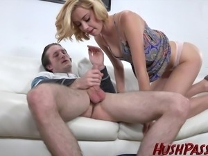 19 yr old Haley Reed gets fucked and a facial!