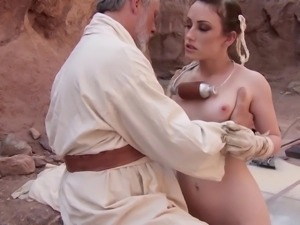 Diva with nice ass having her anal screwed in parody story shoot