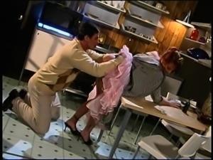 Redhead house wife loving hardcore ravishing in the kitchen