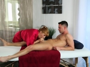 Handsome Seth gives Penny a chance to suck and ride his big erection