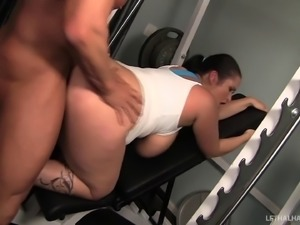 BBW Carmella Bing fucked by big cock after a good workout