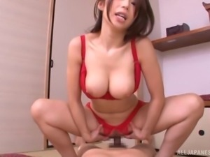 Cowgirl cock riding skills of the cute Ayumi are just mind-blowing!