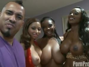 Delicious ebony babes simply adore pleasuring a thick black cock