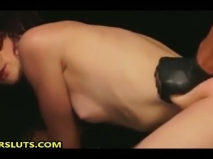 This submissive bitch seems to be enjoying rough fucking