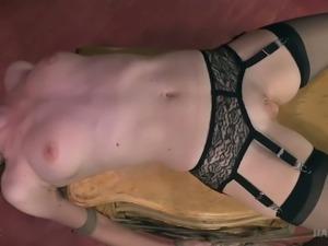Tightly tied brunette hooker Ashley Lane likes BDSM scenes a lot