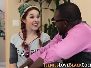 Jizz mouthed teen black