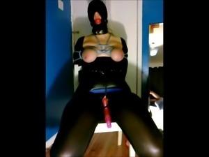 Bondage Slave Gagged Tied Vibed Orgasm