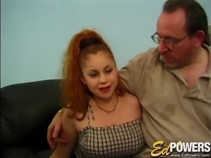 Redhead called Holly Landers letting the guys play with her sexy body
